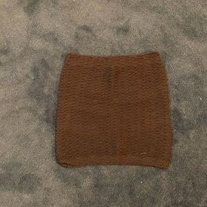 Brown short guess skirt